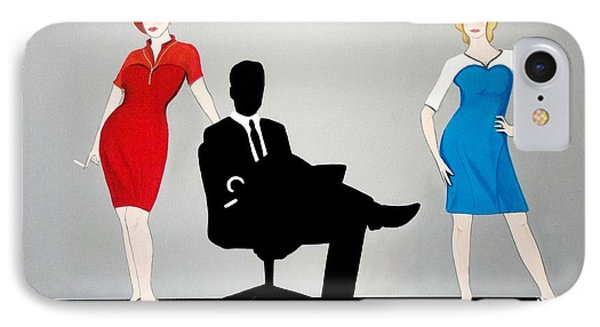 Mad Men In Technicolor Phone Case by John Lyes