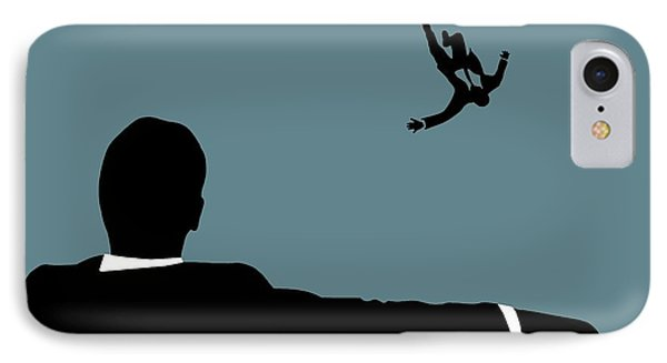 Mad Men On Blue IPhone Case by Dan Sproul