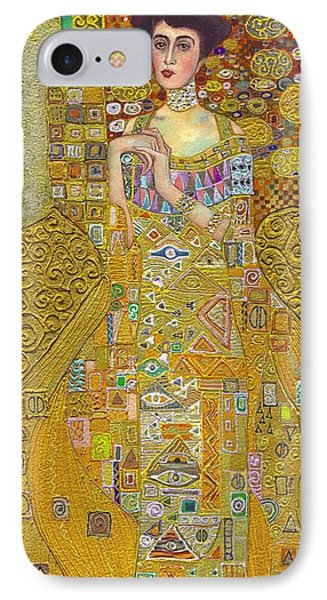 Madam Adele Bloch Bauer After Klimt IPhone Case by Kate Bedell