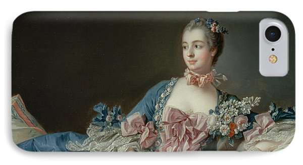 Madame De Pompadour IPhone Case by Francois Boucher