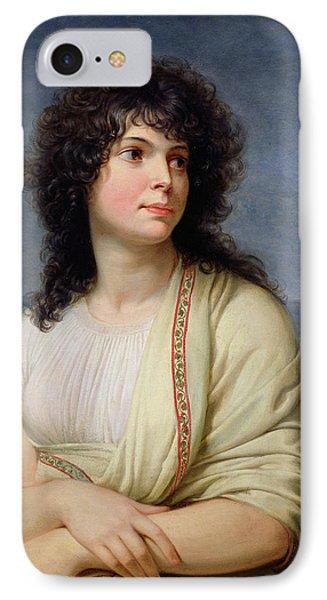 Madame Hamelin 1776-1851 Oil On Canvas IPhone Case
