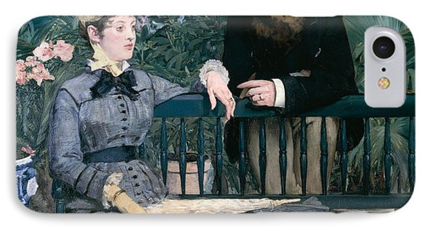 Madame Manet In Greenhouse Phone Case by Edouard Manet