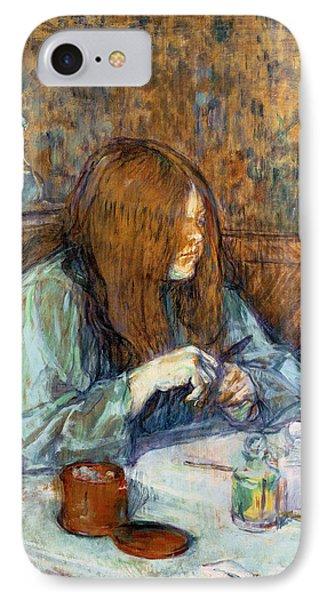 Madame Poupoule At Her Toilet IPhone Case by Henri de Toulouse-Lautrec