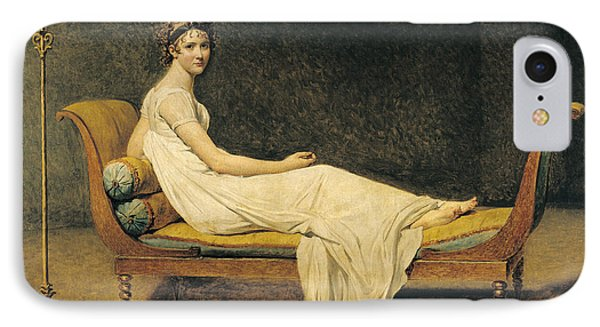 Madame Recamier IPhone Case by Jacques Louis David