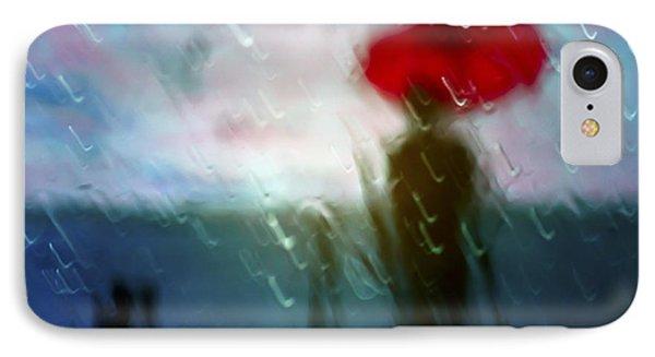 Madame With Umbrella IPhone Case by Alfio Finocchiaro