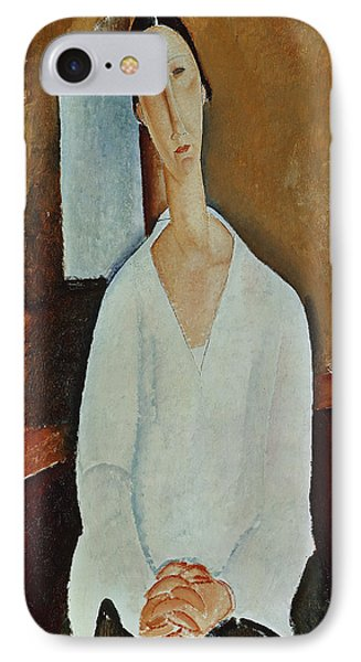 Madame Zborowska With Clasped Hands IPhone Case
