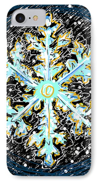 Madeline Snowflake IPhone Case by Jean Pacheco Ravinski