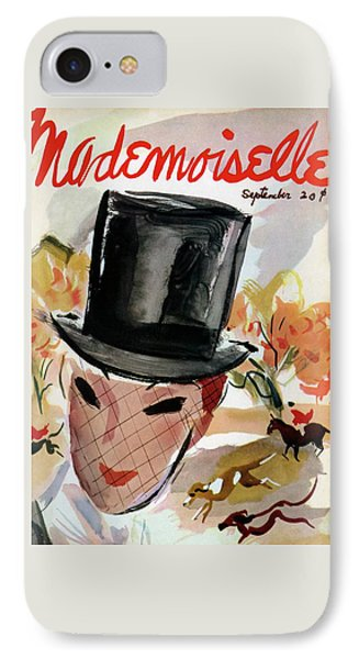 Mademoiselle Cover Featuring A Female Equestrian IPhone Case by Helen Jameson Hall