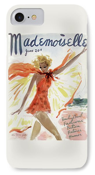 Mademoiselle Cover Featuring A Model At The Beach IPhone Case