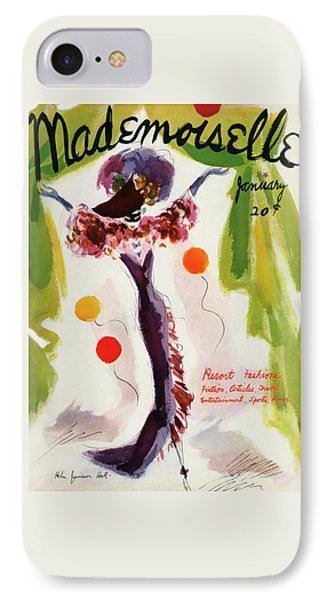 Mademoiselle Cover Featuring A Model Wearing IPhone Case by Helen Jameson Hall