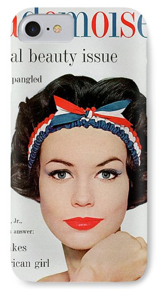 Mademoiselle Cover Featuring A Model Wearing IPhone Case by Mark Shaw