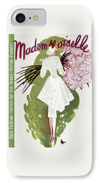 Mademoiselle Cover Featuring A Woman Carrying IPhone Case by Elizabeth Dauber