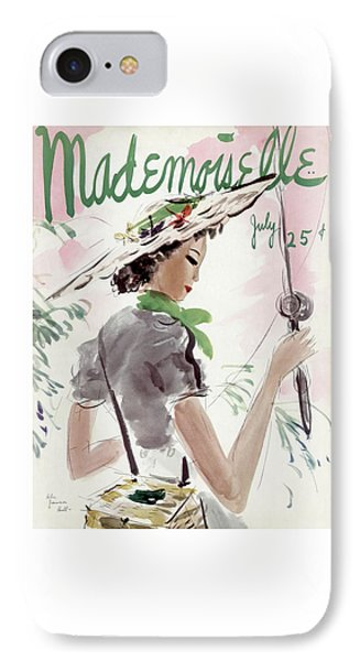 Mademoiselle Cover Featuring A Woman Holding IPhone 7 Case