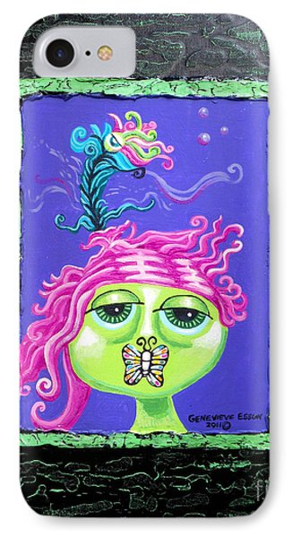 Mademoiselle Flutterby Phone Case by Genevieve Esson