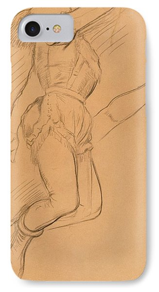 Mademoiselle La La At The Circus Fernando Phone Case by Edgar Degas