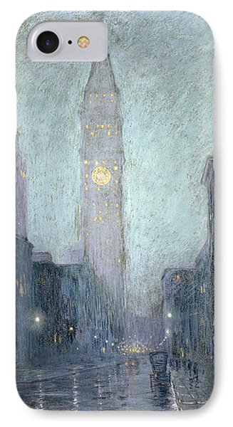 Madison Avenue At Twilight IPhone Case by Lowell Birge Harrison