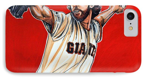 Madison Bumgarner World Series Mvp IPhone Case by Dave Olsen