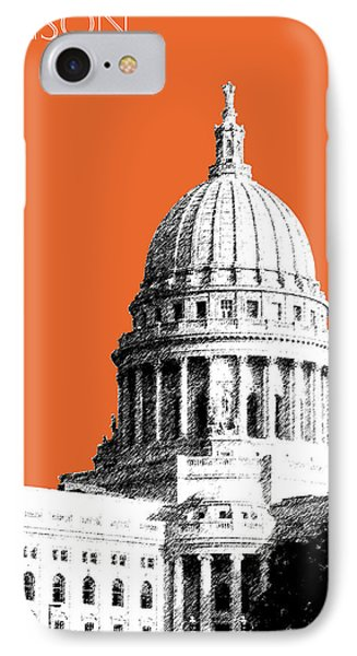 Madison Capital Building - Coral IPhone Case by DB Artist