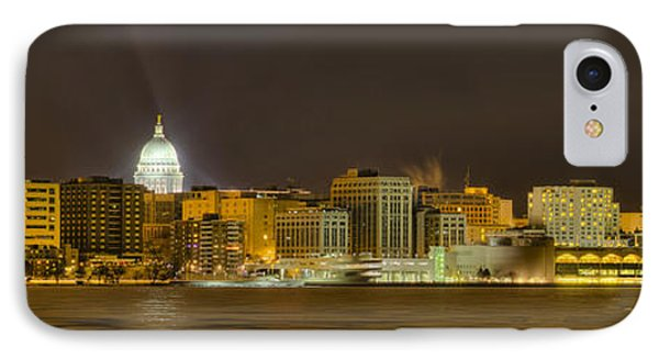 Madison - Wisconsin City  Panorama - No Fireworks IPhone Case by Steven Ralser
