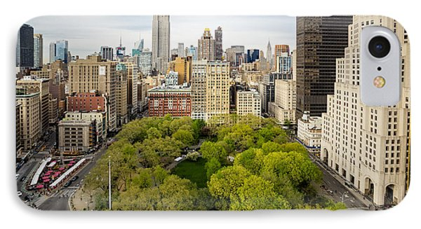Madison Square Park Birds Eye View IPhone Case