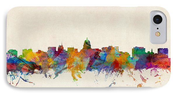 Madison Wisconsin Skyline IPhone Case by Michael Tompsett