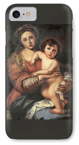 Madona And Child IPhone Case by Mukta Gupta