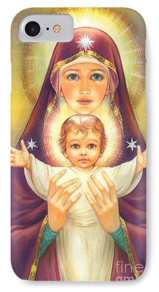 Madonna And Baby Jesus IPhone Case by Zorina Baldescu