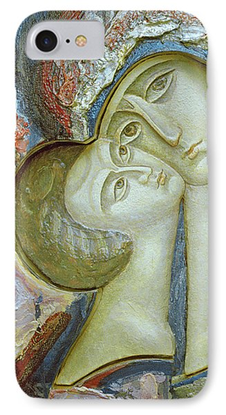 Madonna And Child IPhone Case by Alek Rapoport