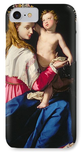 Madonna And Child Phone Case by Alessandro Allori