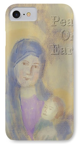 IPhone Case featuring the digital art Madonna And Child by Arline Wagner