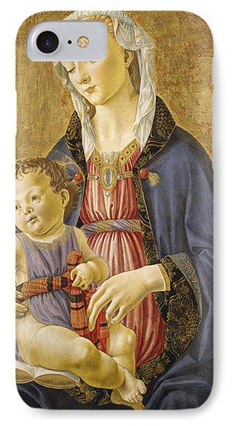 Madonna And Child Phone Case by Domenico Bigordi Domenico Ghirlandaio