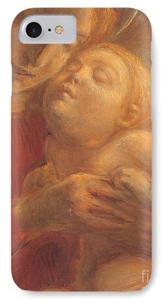Madonna And Child IPhone Case by Gaetano Previati