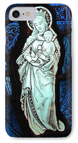 Madonna And Child Phone Case by Gilroy Stained Glass