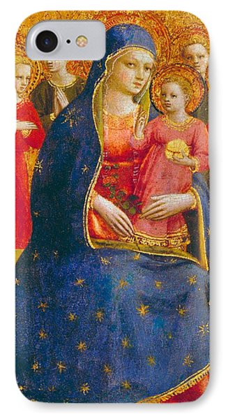 Madonna And Child With Angels Phone Case by Fra Angelico