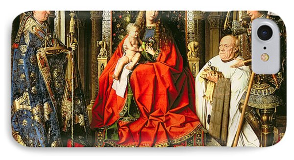 Madonna And Child With Canon Joris Van Der Paele IPhone Case