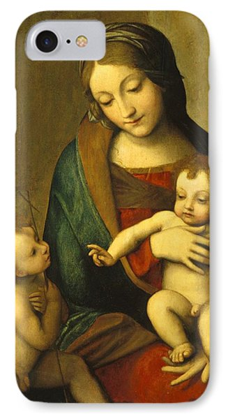 Madonna And Child With The Infant Saint John Phone Case by Antonio Allegri Correggio
