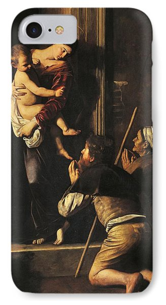 Madonna Dei Pellegrini Or Madonna Of Loreto IPhone Case by Michelangelo Merisi da Caravaggio