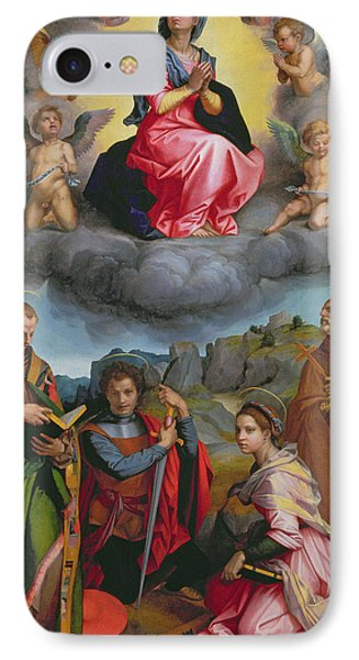 Madonna In Glory With Four Saints IPhone Case