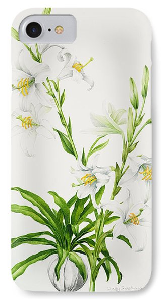 Madonna Lily IPhone Case by Sally Crosthwaite