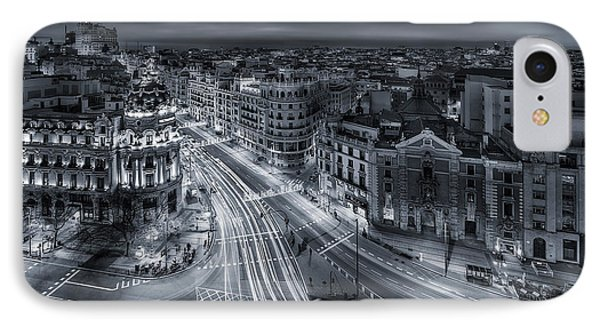 Madrid City Lights IPhone Case