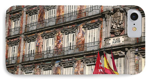 Madrid Murals Phone Case by Joan Carroll
