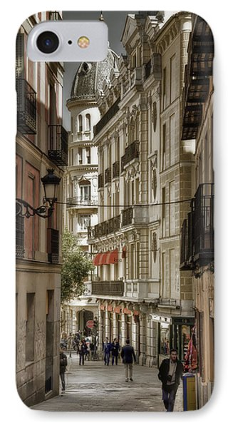 Madrid Streets Phone Case by Joan Carroll