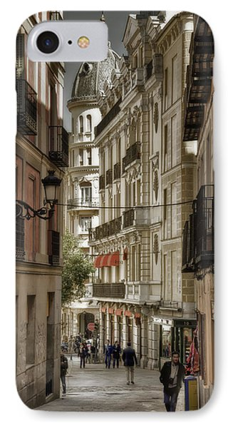 Madrid Streets IPhone Case by Joan Carroll
