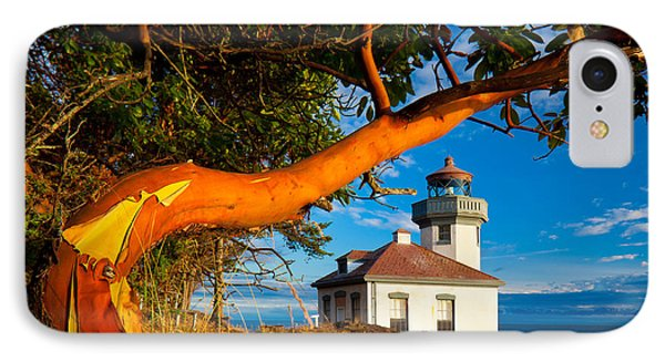 Madrone And Lighthouse IPhone Case