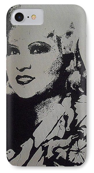 IPhone Case featuring the painting Mae West by Cherise Foster