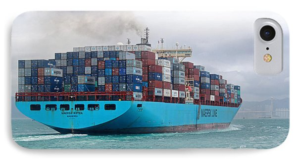 Maersk Kotka In Hong Kong IPhone Case by Charline Xia