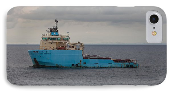 IPhone Case featuring the photograph Maersk Transporter by Gregory Daley  PPSA