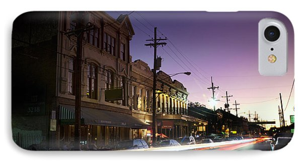 Magazine Street Sunset In Uptown Nola IPhone Case by Ray Devlin