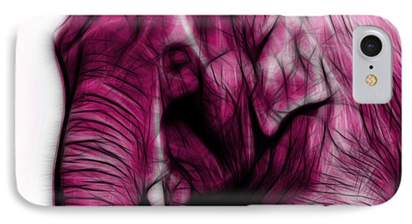 Magenta Elephant 3374 - F - S IPhone Case