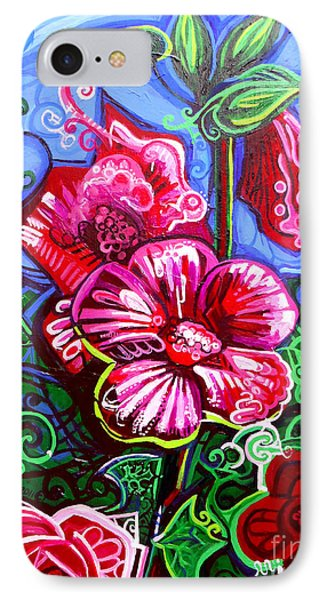 Magenta Fleur Symphonic Zoo I IPhone Case by Genevieve Esson